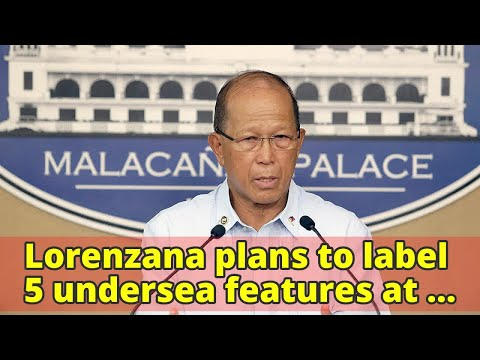 Lorenzana plans to label 5 undersea features at PH rise with Filipino names