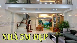 Bán nhà Gò Vấp( 130 )5m x 12m nhà đẹp 3.5 lầu khu cao cấp an ninh Sổ riêng giá 6.38 tỷ Nguyễn Oanh