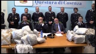 """Stradale Cosenza """"pesca""""in mare  ad Amendolara 120 kg maijuana"""