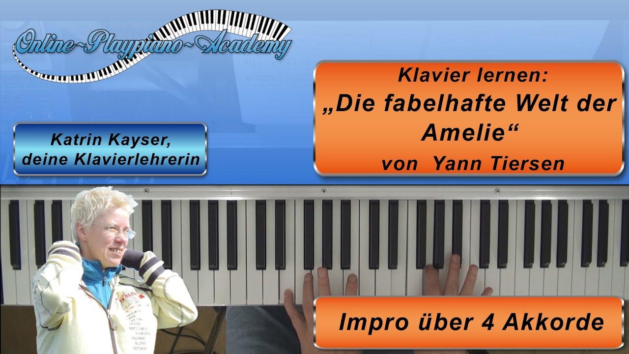 Der die gitarrennoten amelie welt fabelhafte Filmmusik klaviernoten