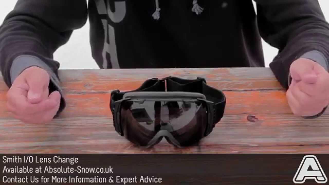 c6ada1843e How to Change a Smith I O Goggle Lens - YouTube