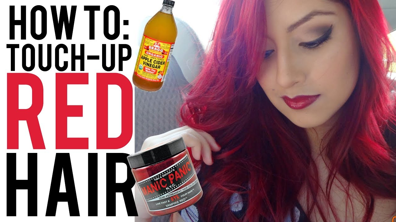 How To Retouch Red Hair With Manic Panic Vampire Red Youtube