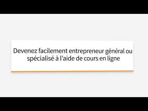 Formation RBQ - Licence Entrepreneur Général et Spécialisé - RBQ