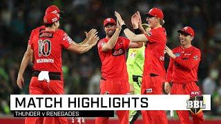 Renegades record first BBL|09 win despite rain, Thunder | KFC BBL|09