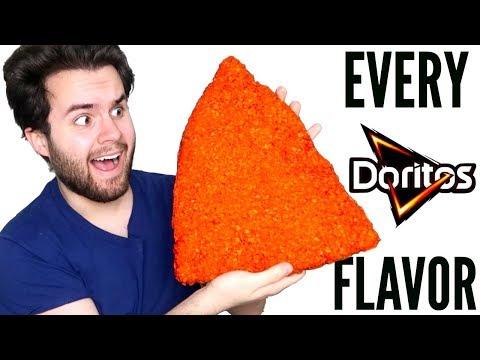 MIXING TOGETHER EVERY DORITOS FLAVOR! - Giant Dorito! Taste Test Experiment DIY!