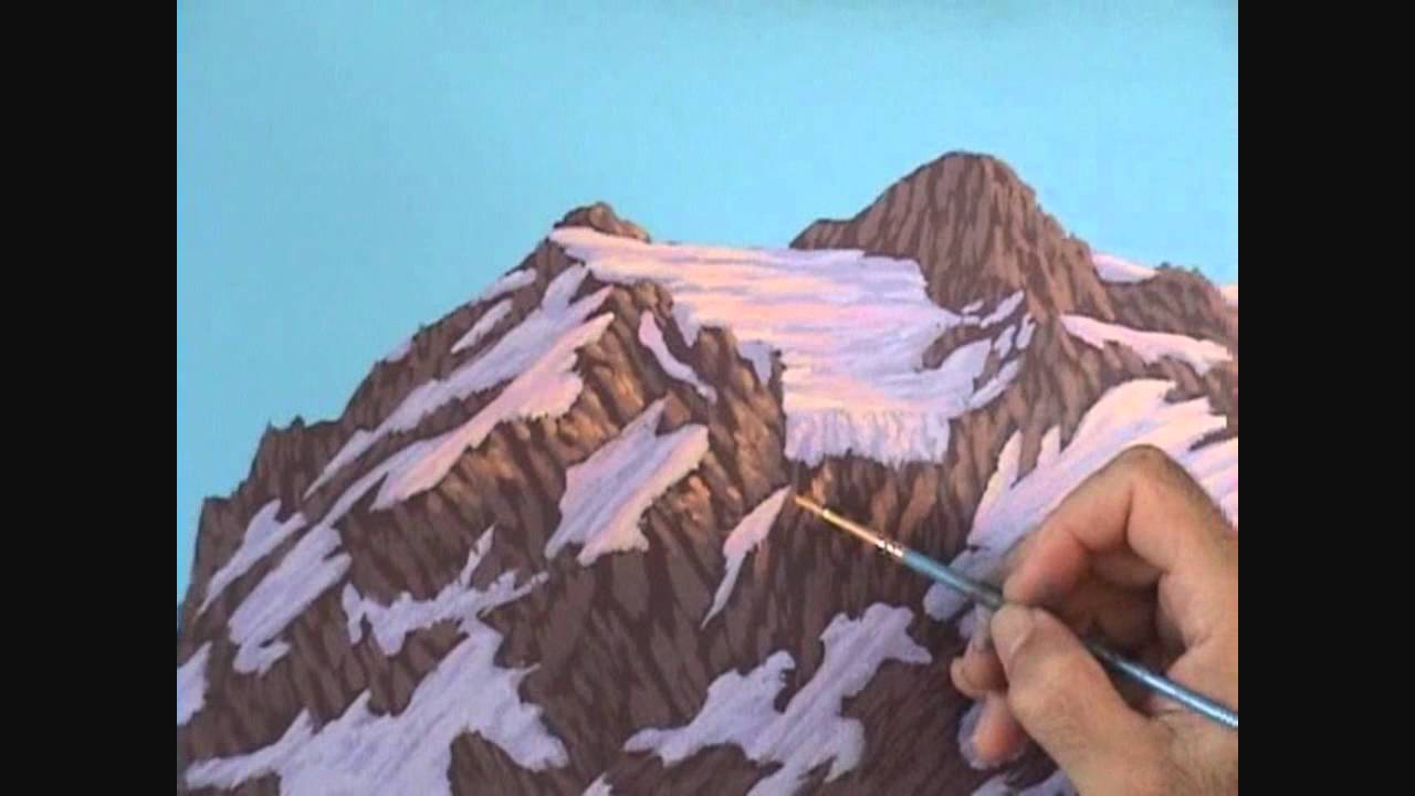 Горы акрилом рисовать