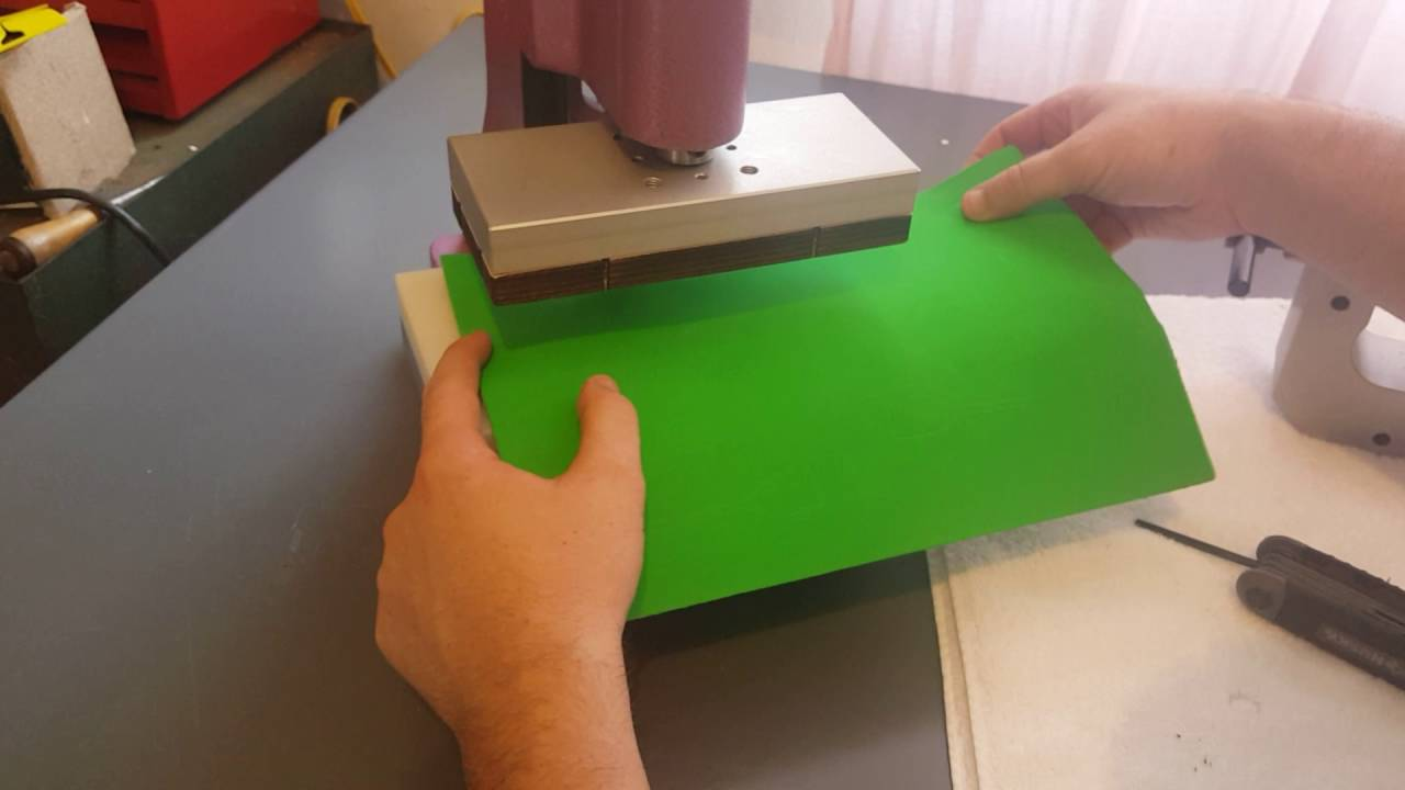 Cutting ASTM D412 Samples with a Die + Arbor Press