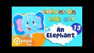 Hướng Dẫn Vẽ Con Voi - Siêu Nhân Bút Chì - Tập 13 - How To Draw An Elephant