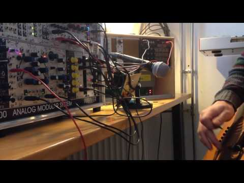 Experimenting with contact microphone on Mutable Instruments Rings