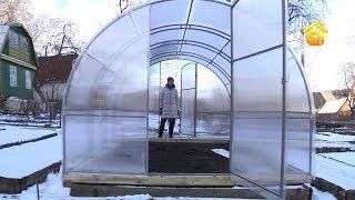 видео Купить теплицу из поликарбоната для дачи