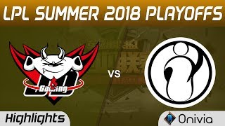 JDG vs IG Highlights Game 5 LPL Summer Playoffs 2018 JD Gaming vs Invictus Gaming by Onivia