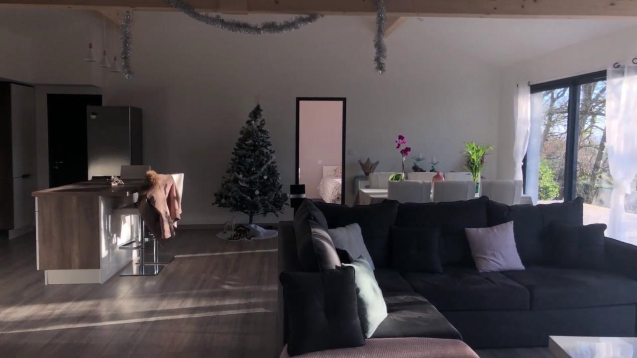 Constructions maison bois : visite intérieur - YouTube