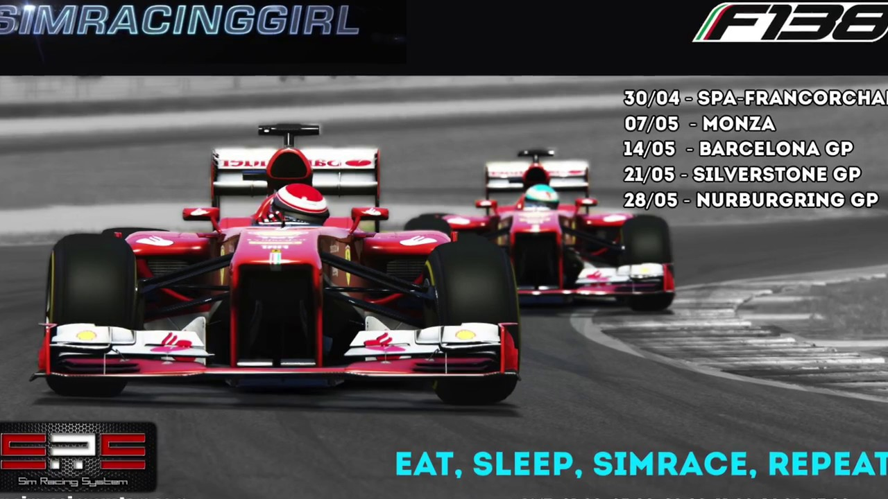 simracing girl assetto corsa f138 league by sim racing. Black Bedroom Furniture Sets. Home Design Ideas