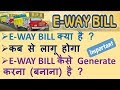 GST : E WAY BILL, HOW TO GENERATE E WAY BILL, VALIDITY OF E WAY BILL