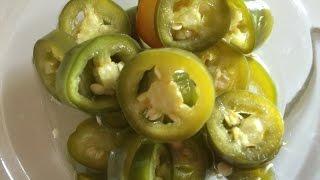 How to Make Pickle Chili Serrano របៀបធ្វើជ្រក់ម្ទេស-Cooking with Elissa