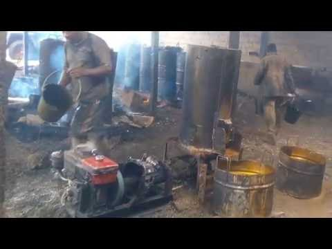 Palm oil processing unit in the west region of Cameroon