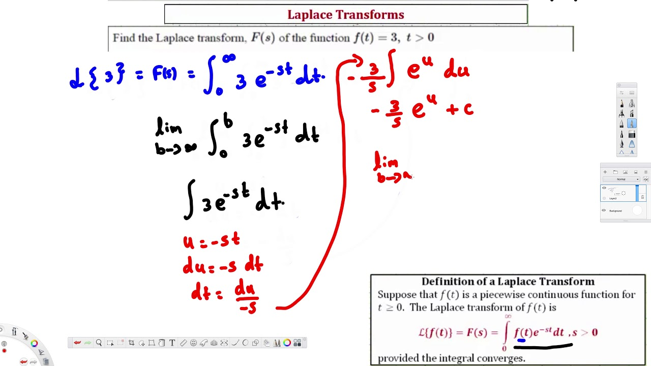 Ex Find The Laplace Transform Of Ft 3 Using Definition Differential In 2021 Laplace Transform Laplace Differential Equations