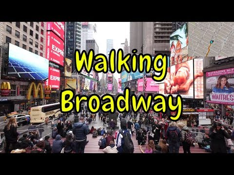 ⁴ᴷ Walking Tour of Manhattan, NYC (April 2018) - Broadway: Times Square to South Ferry (GPS Overlay)