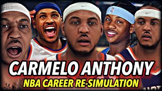 CARMELO ANTHONY'S NBA CAREER RE-SIMULATION | THE GREATEST CAREER... EVER? I'M SPEECHLESS | NBA 2K20