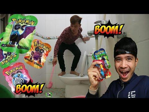 PHD | Troll Pháo Pokemon Lúc Đang Ị | Bom Pokemon
