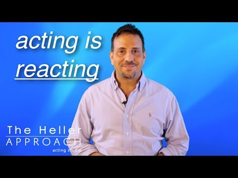 FREE ACTING LESSON: Acting Is The Ability To React