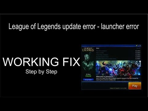 League Of Legends Update Failed Fix - Easy - Step By Step - 100