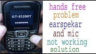 samsung 1200t hands free and earphone symbel  solution