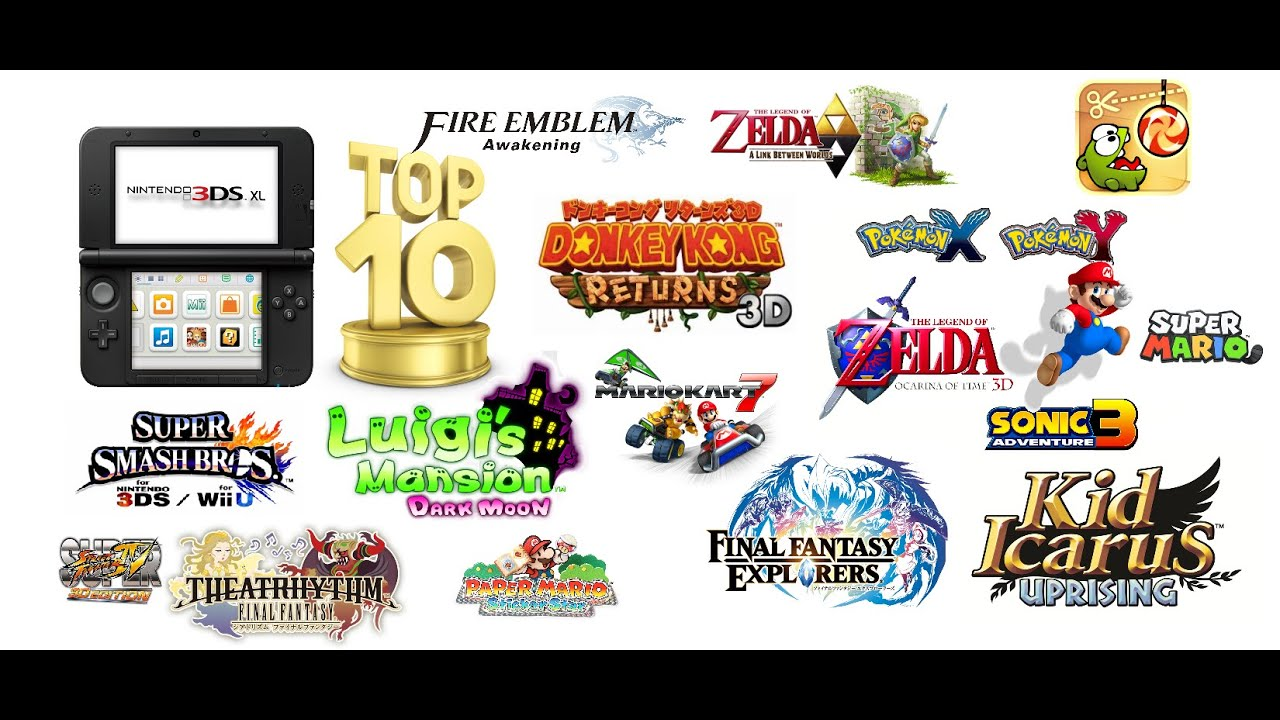 Top 10 Nintendo 3DS Games - YouTube