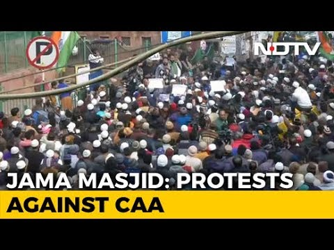 Citizenship Act Protest: Hundreds Gather At Delhi's Jama Masjid In Protest Against Citizenship Law