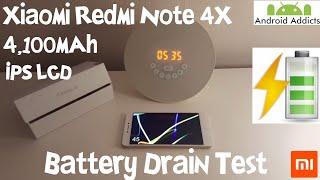 Xiaomi Redmi Note 4X Battery Life Drain Test