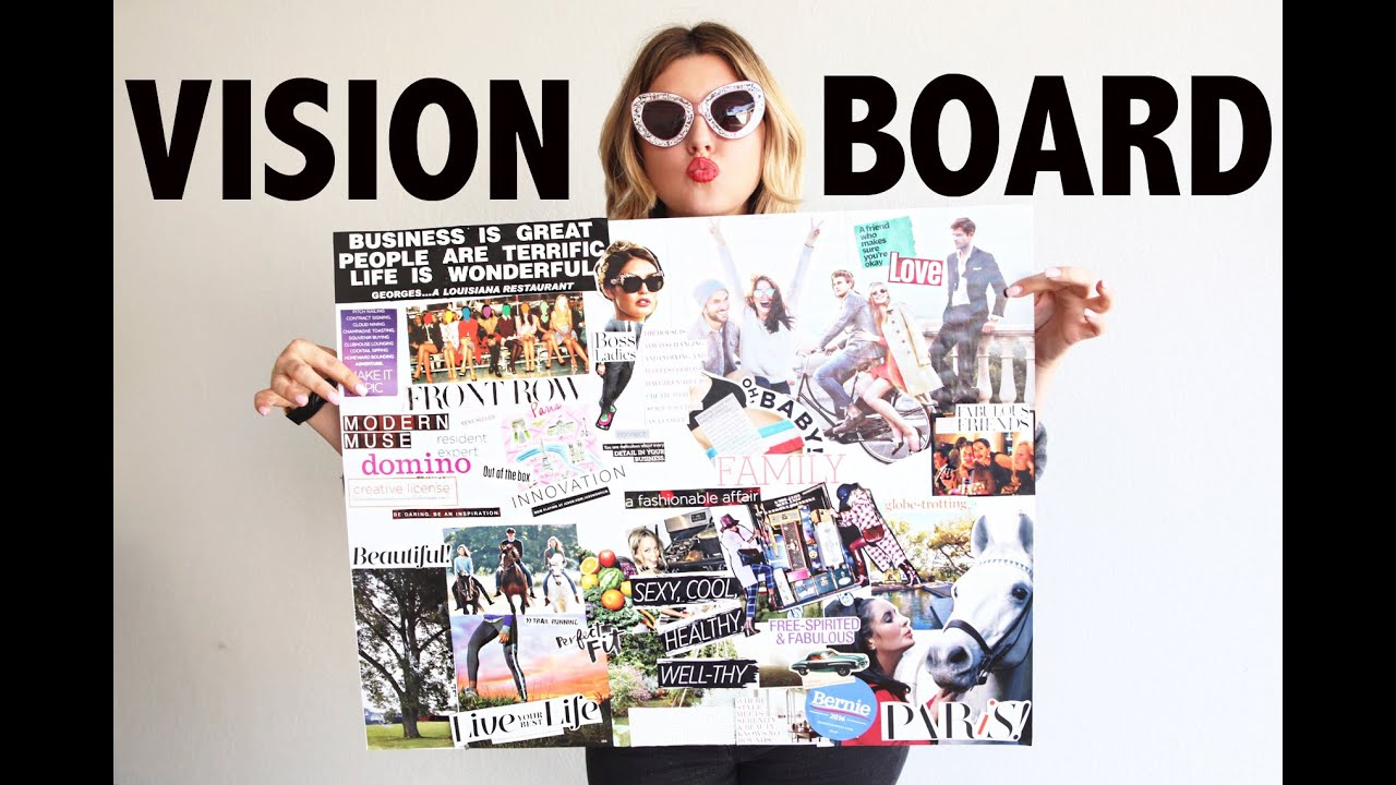 Vision board diy the law of attraction youtube for Home design vision board