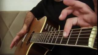 percussion guitar lesson/learning short exercise (1-1)