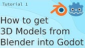 How To Get 3D Models From Blender into Godot - YouTube
