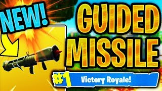 "NEW ""GUIDED MISSILE"" WEAPON IN FORTNITE! HOW TO UNLOCK NEW GUIDED MISSILE IN FORTNITE BATTLE ROYALE!"