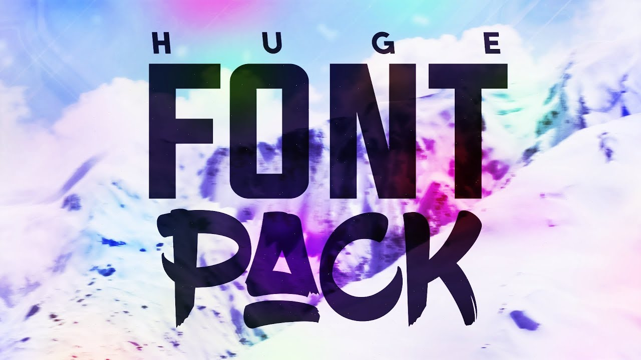 Download HUGE Font Pack (includes 100 Fonts) w/FREE DOWNLOAD - YouTube