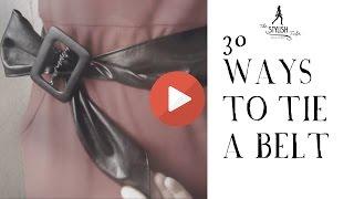 30 Ways To Tie A Belt