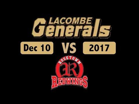 Lacombe Generals vs Rosetown Dec10