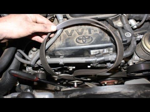 Replacing Serpentine Belt Toyota Tacoma - YouTube