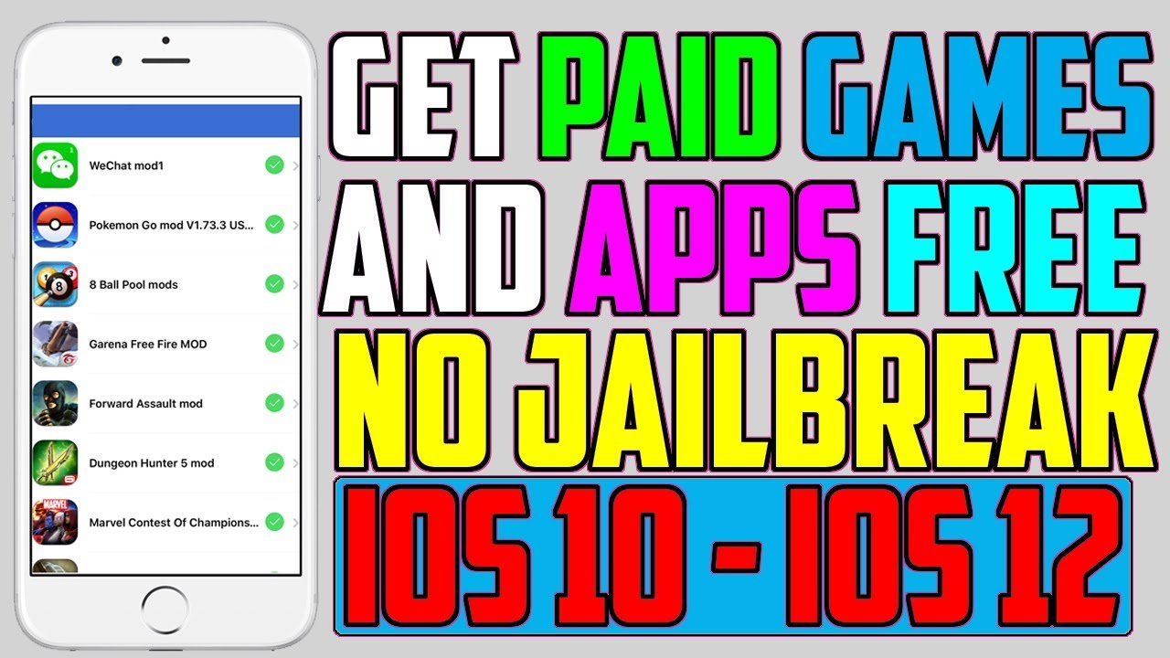 How To Get Paid Apps & Games With in-App Purchases FREE (NO Jailbreak NO  Computer)