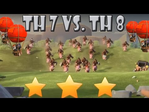 CoC 3 Sterne Taktik Garantiert RH7 vs. RH8  Let´s Play CoC/ Clash of Clans   Deutsch/ German