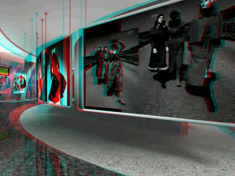 3D stereo anaglyph, virtual Artgallery part_3,  right side