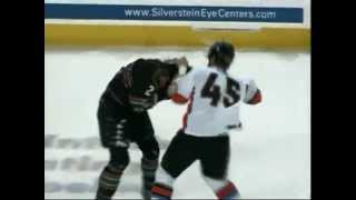 CHL Quad City-Missouri hockey fight - Mitch McColm vs Colt King 1/12/13