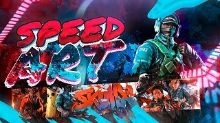 SpeedArt 16 ? Banner for Skullx Games ? Fortnite Banner I make free banners