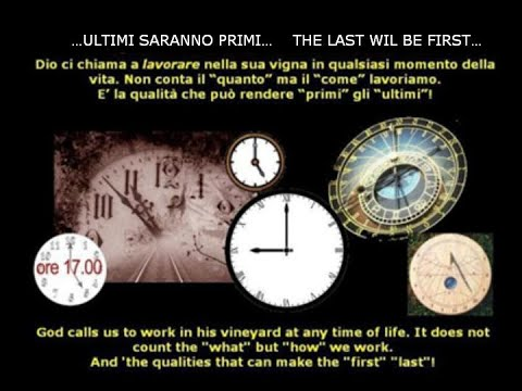 ...gli ultimi saranno primi......the last will be first...
