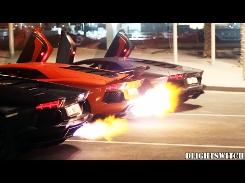 Trio of Lamborghini Aventadors Throw Down In Flame Off: Video