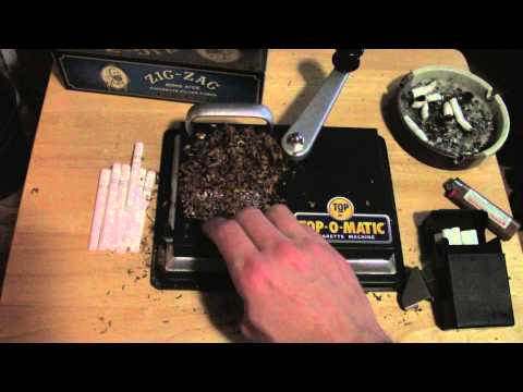 how to roll a cigarette with a rolling machine