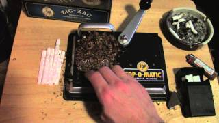How to Roll Y๐ur Own Cigarettes for less than $1 a pack. Top-O-Matic Roller Zig Zag