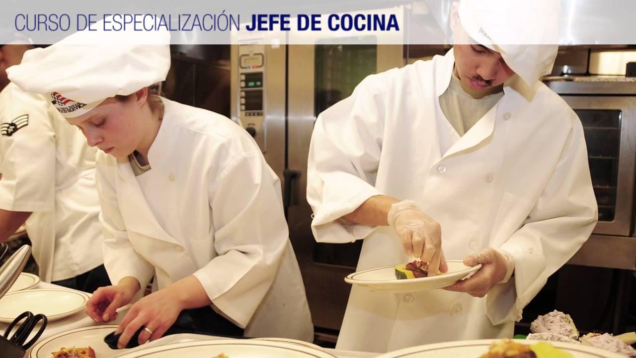 curso de jefe de cocina youtube
