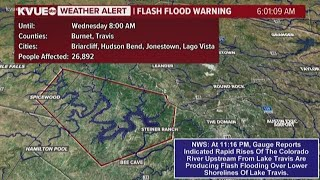 Lake Travis lake levels continue to rise following Llano River flooding