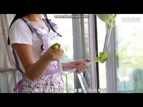Duplex Window Cleaner Telescopic Rod Wiper Glass Cleaner